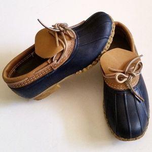 L.L. Bean 06009 Low Bean Boots Rubber & Leather